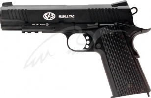 Пистолет пневматический SAS (M1911 Tactical) Blowback. Корпус - металл