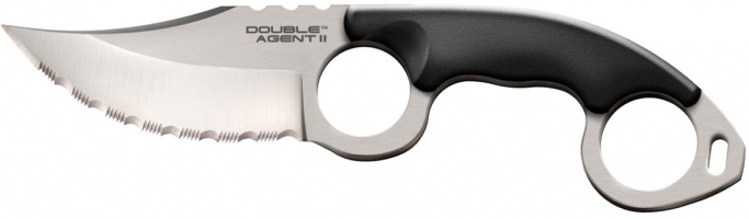 Нож Cold Steel Double Agent II Serrated (блистер)