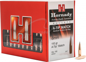 Пуля Hornady A-TIP Match 6MM кал. 243. Масса 7,13 г/110 гран.